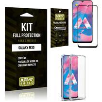 Capinha Anti Impacto + Película de Vidro 3D Samsung M30 - Armyshield -