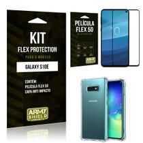 Capinha Anti Impacto + Película Flex 5D Samsung S10e (LITE) - Armyshield -