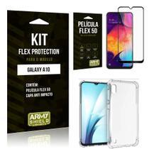 Capinha Anti Impacto Samsung A10 + Película Flex 5D - Armyshield -