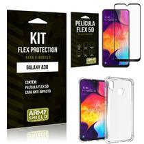 Capinha Anti Impacto Samsung A30 + Película Flex 5D - Armyshield -