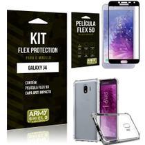 Capinha Anti Impacto Samsung J4 + Película Flex 5D - Armyshield -