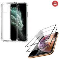 Capinha Anti Impactos iPhone 11 Pro Max + 2x Película 5D Nano Flexível - Coronitas Acessorios