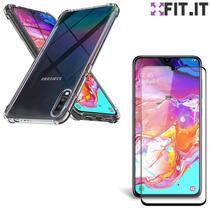 Capinha Anti Shock Choques Galaxy A70 + Película Nano Gel Flexível - Encapar