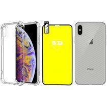 Capinha Antichoque e Película Gel 5D e Traseira Iphone XS Max - Hrebros