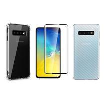 Capinha Antichoque e Película Gel 5D e Traseira Samsung S10 - Hrebos