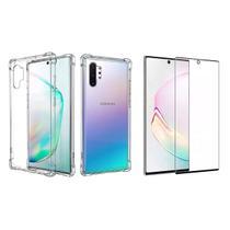 Capinha Antichoque e Película Gel 5D Samsung Galaxy Note 10 - Hrebos