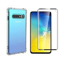 Capinha Antichoque e Película Gel 5D Samsung S10 - Hrebos