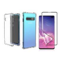 Capinha Antichoque e Película Gel 5D Samsung S10+ Plus - Hrebos