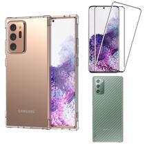 Capinha Antichoque e Película Gel Nanogel Frente e Traseira Samsung Note 20 Ultra - Hrebos