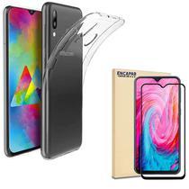 Capinha Básica Capa Tpu Samsung Galaxy M20 + Película Nano 3D Gel Cobre 100% - Fit.It