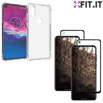 Capinha Case Anti Impacto Queda Motorola One Action + Película Nano 5D - Fit It