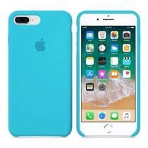 Capinha, Case em Silicone Iphone 7 /8 Plus Azul + Película de Vidro Temperado - New Case