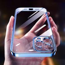 Capinha Celular Compatível Iphone 12 Promax 12 Pro Max Lançamento Azul - rbs