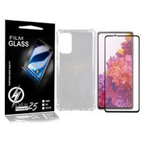 Capinha Celular Transparente Galaxy S20 FE  + 2 Pel Vidro 3d -