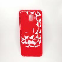 Capinha de Celular com Textura Diamante 3D Vermelha - Mymo Capas