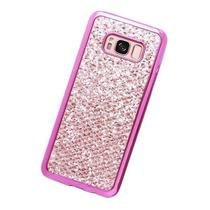 Capinha Luxo Silicone Glitter Pink Para Samsung S8 - Planeta case