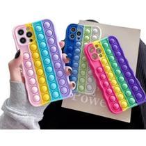 Capinha Pop it Fidget Toy Empurra Bolha Anti Stress Compatível com iPhone 11 - JCR