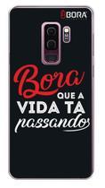 Capinha Preta - Frase Bora - Samsung Galaxy S9 Plus - Use Bora