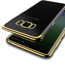 Capinha Silicone Borda Dourada Samsung Galaxy S8 - Borda Colorida