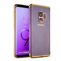 Capinha Silicone Borda Dourado Samsung Galaxy S9 Plus - Flix Mobile