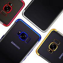 Capinha Silicone Borda Prata Samsung Galaxy S8 Plus - Flix Mobile