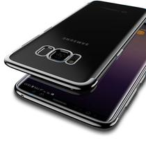 Capinha Silicone Borda Preta Samsung Galaxy S8 Plus - Flix Mobile