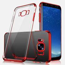 Capinha Silicone Borda Vermelha Samsung Galaxy S8 Plus - Flix Mobile