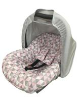Capota bandeorola rosa com cinza - Lika Baby