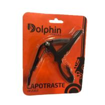 Capotraste Dolphin Preto Ukulele -