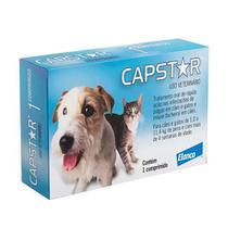 Capstar 11,4 mg Antipulgas e Bicheiras para Cães e Gatos - 1 Comprimido - Elanco