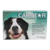 Capstar Antipulgas e Carrapatos 57mg Acima de 14,4kg - 1 Comprimido - Elanco