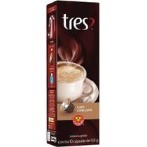Capsula de Cafe com Leite Tres 9g CX 10 UN 3 Coracoes -