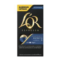 Capsula de Cafe Espresso Ristretto Decaffeinato 52g CX 10 UN Lor -