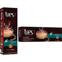 Cápsula de Café Tres com 10 Unidades de 8g Espresso Descafeinado -