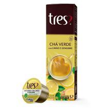 Cápsula de Chá Expresso Três Verde com Limao e Gengibre Embalagem com 10 Unidades - Tres