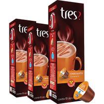 Cápsula Tres com 10 Unidades de 10.5g Chocolatto Caramello -