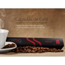 Cápsulas de Café Santa Origem (Intenso) - Cx c/ 10 unid Padrão Nespresso - Capresso