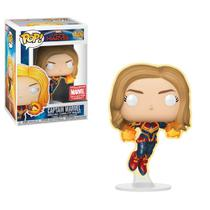 Captain Marvel - Funko Pop - Captain Marvel - 446 - Collector Corps Exclusive - Glows in the Dark -