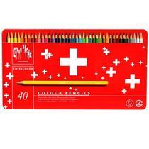 Caran d'ache swisscolor lápis aquarelável 40 cores -