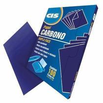 Carbono Papel Az Dupla Face Azul C/100 Cis - Caixa Fechada -