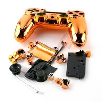 Carcaça Cromada Para Controle Mod jdm-001, jdm-011 e jdm-020 Para Playstation 4 Play 4 Ps4 Coral - Outros