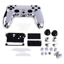 Carcaça Cromada Para Controle Mod jdm-001, jdm-011 e jdm-020 Para Playstation 4 Play 4 Ps4 Prata - Outros