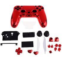Carcaça Cromada Para Controle Mod jdm-001, jdm-011 e jdm-020 Para Playstation 4 Play 4 Ps4 - Retrô