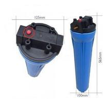 Carcaça Filtro De Agua 20 Polegadas Slim Azul Rosca 3/4 - Aquapro