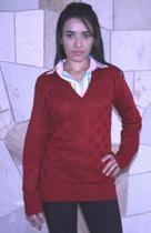 Cardigan Feminino Comprido em Lã Kinara Branco 10101 -