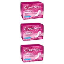 Carefree ProteÇÃO S/ Perfume Absorvente C/15 (Kit C/03) -