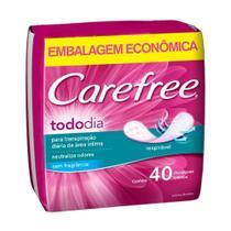 Carefree Todo Dia Absorvente Diário S/ Perfume C/40 -