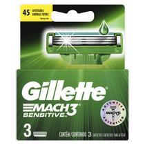 Carga aparelho barbear gillette mach3 sensitive 3 unidades -