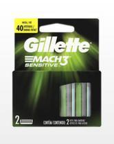 Carga Barbeador Mach 3 Sensitive c/2 Unidades - Gillette -