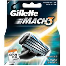 Carga barbear gillette mach3 c/2 mach3 regular unit - Gillette mach 3